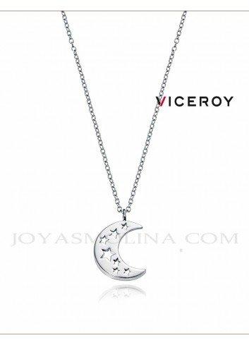 Gargantilla Viceroy plata luna con estrella caladas 5062C000-68