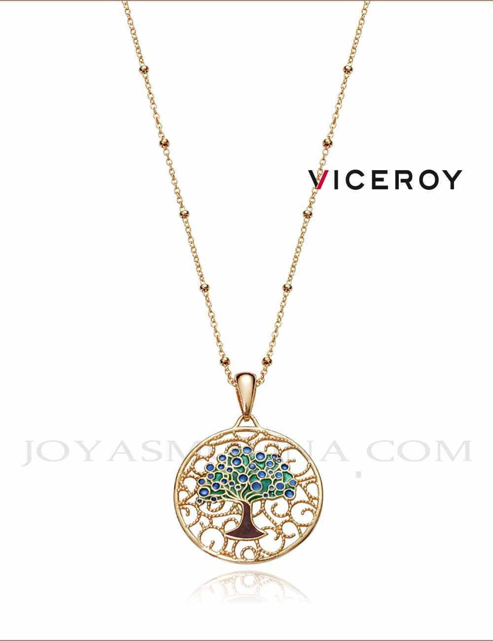 Gargantilla Viceroy plata árbol vida dorado1322C100-18