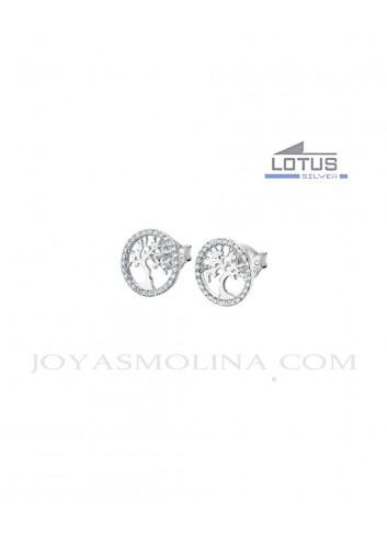 Pendientes Lotus plata árbol de la vida LP1778-4-1