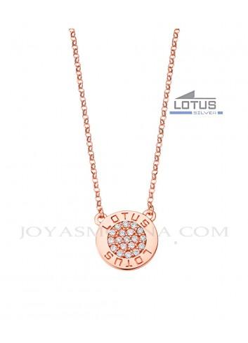 Gargantilla plata Lotus circulo