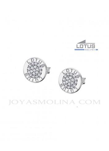 Pendientes Lotus Silver circulo circonitas LP1252-4-1