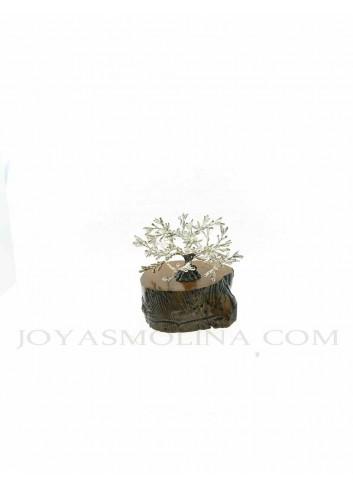 Olivo metal plateado mini figura