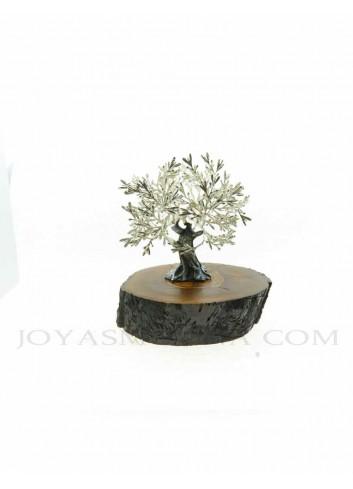 Olivo metal plata pequeño