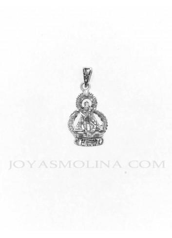 Medalla plata Virgen de la Cabeza silueta 16x32