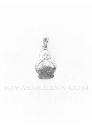 Medalla plata Virgen de la Cabeza silueta reverso