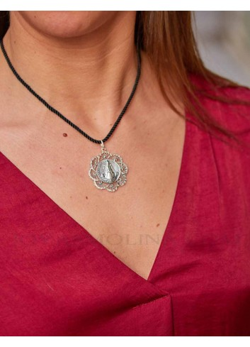 Medalla Virgen del Rocío plata ondas