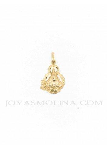 MEDALLA Virgen Cabeza oro silueta 16x27