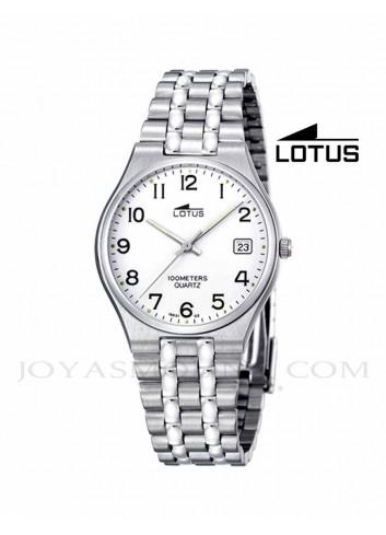 Reloj hombre Lotus cadena acero números 15031-2