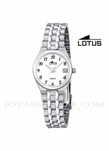 Reloj mujer Lotus cadena acero números 15032-1