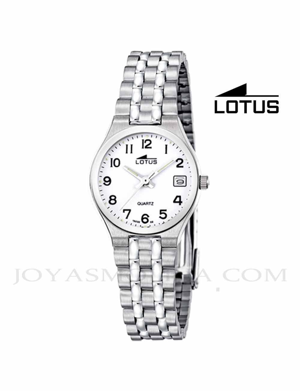 Reloj mujer Lotus cadena acero números 15032-2