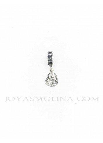 Abalorio con colgante Virgen de la Cabeza plata