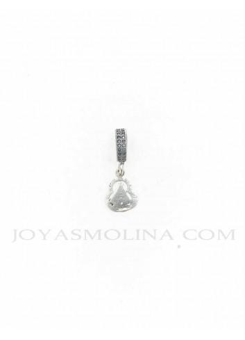 Abalorio con colgante Virgen de la Cabeza plata pequeño