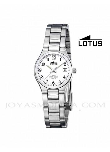 Reloj mujer Lotus cadena acero números