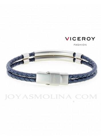 Pulsera Viceroy hombre doble trenzado azul oscuro 15038P01013