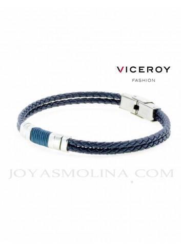 Pulsera Viceroy hombre doble trenzado azul oscuro 6456P01013