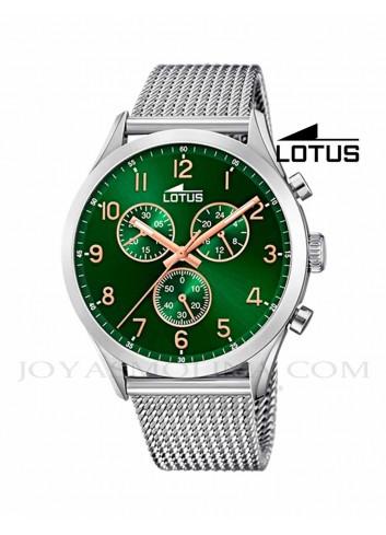 Reloj Lotus hombre cadena acero esfera verde 18637/2
