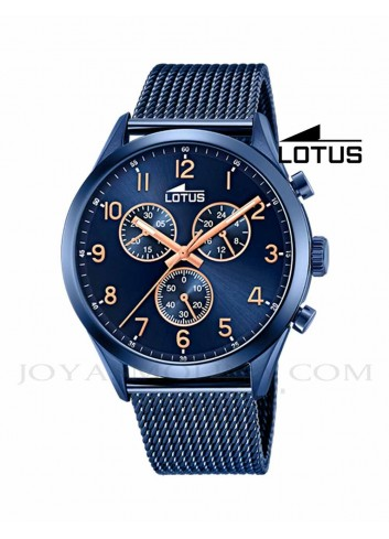 Reloj Lotus hombre azul cadena acero 18638-1