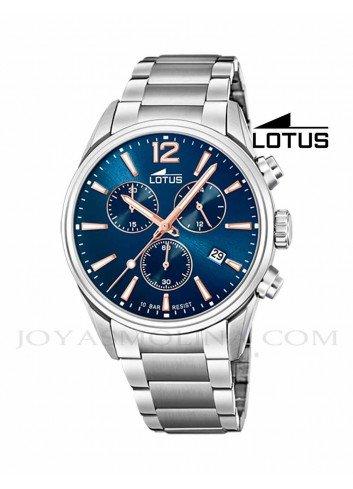 Reloj Lotus hombre cadena esfera azul 18690/2