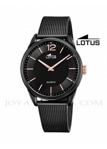 Reloj Lotus hombre cadena correa esfera negro 18736-3