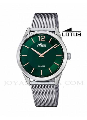 Reloj Lotus hombre cadena correa esfera verde 18734-3