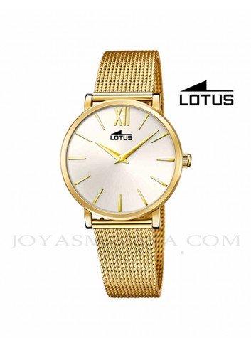 Reloj Lotus mujer cadena dorada correa 18732-1