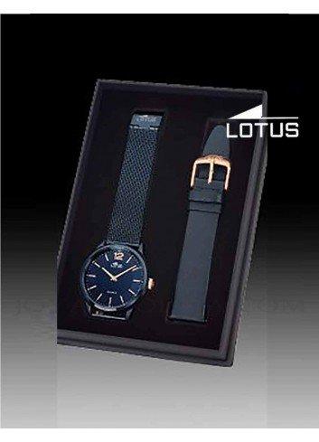 Reloj Lotus hombre correa esfera azul 18735-1