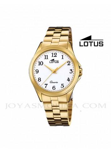 Reloj Lotus mujer cadena dorada números 18740-1