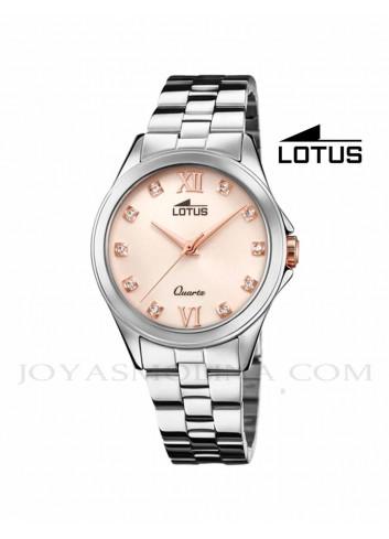 Reloj Lotus mujer cadena esfera salmón 18739-3