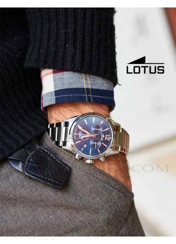 Reloj Lotus hombre cadena esfera azul