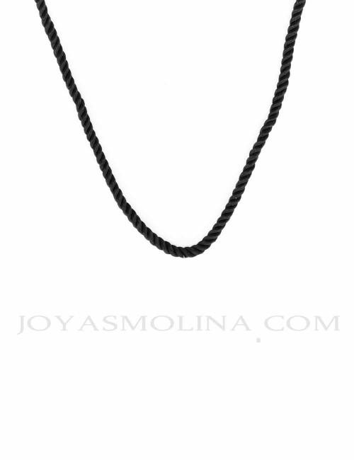 Cordón negro para colgantes 40 cm