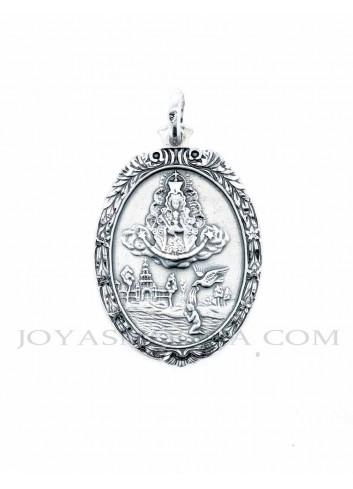 Medalla Virgen Rocío oval aparición