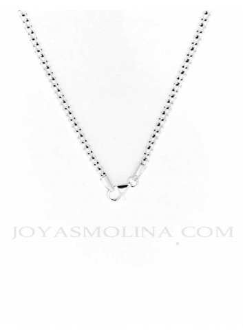 Cierre cadena plata estilo coreana 40 cm