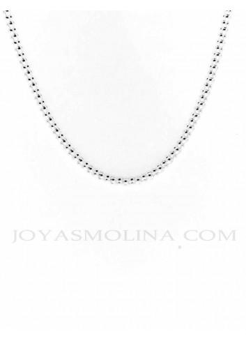 Cadena plata estilo coreana 40 cm