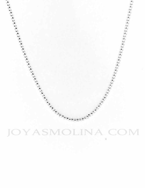 Cadena plata estilo coreana 45 cm 2,4mm