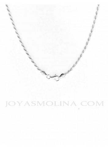 Cierre Cordón plata 40 cm 2,3mm