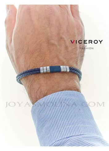 Pulsera Viceroy hombre doble trenzado azul