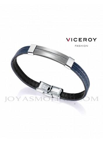 Pulsera Viceroy hombre cuero azul oscuro 75167P01013