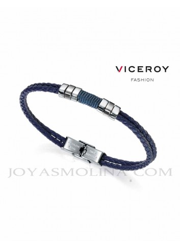 Pulsera Viceroy hombre doble trenzado azul oscuro