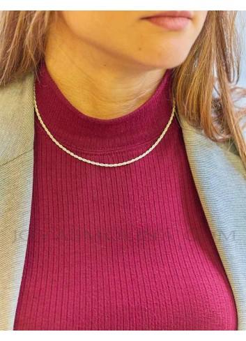 Cordón plata 40 cm mujer 2,3mm