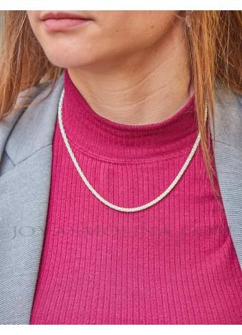 Cadena plata estilo coreana 45 cm 3,3mm mujer