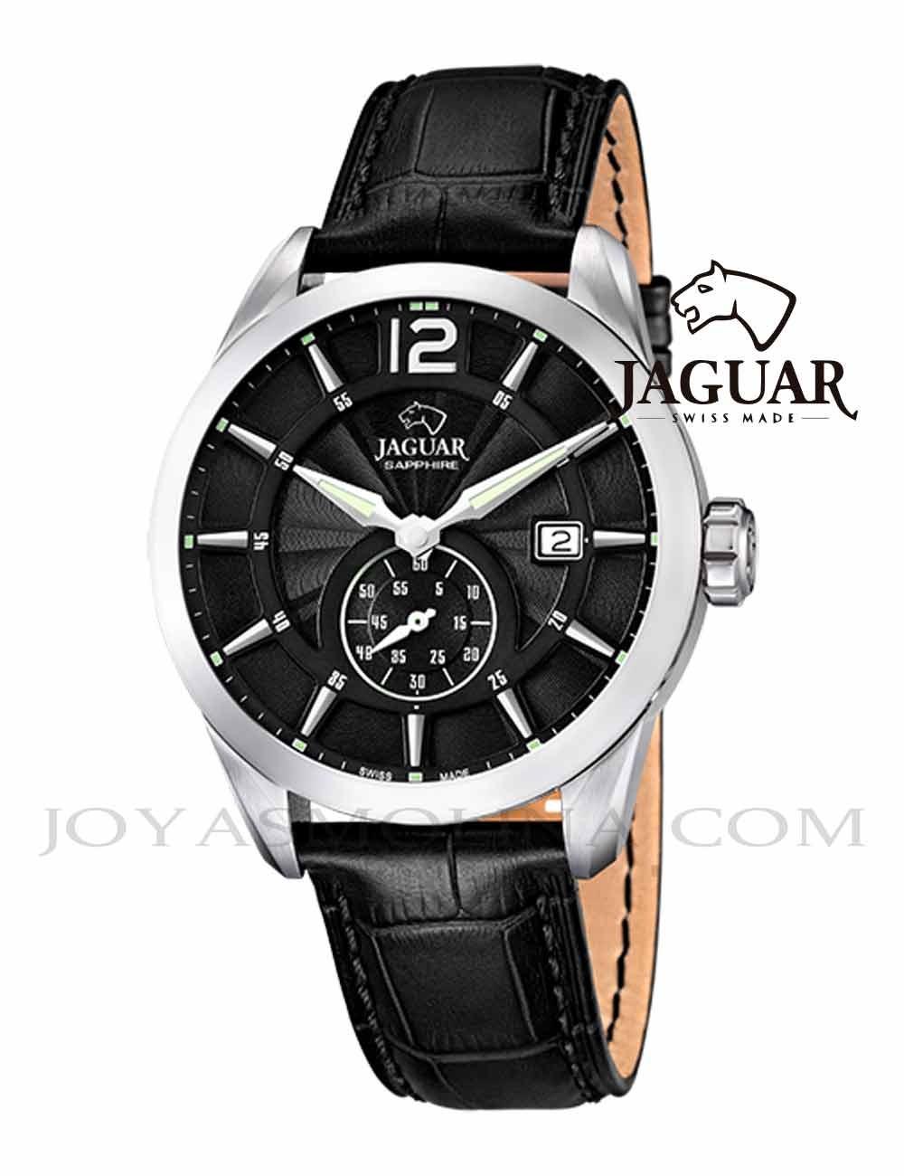 Reloj Jaguar hombre negro correa J663-4