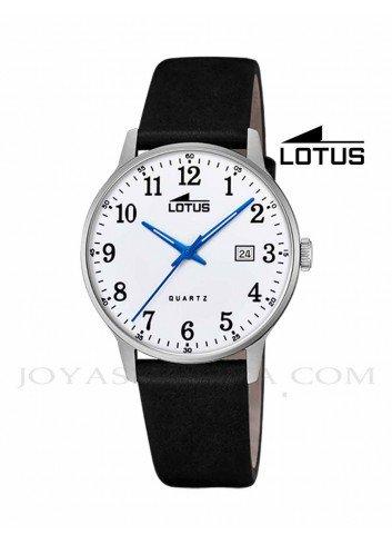 Reloj Lotus hombre correa esfera blanca numeros 18695-1
