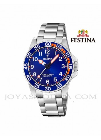 Reloj niño Festina cadena esfera azul F20459-2