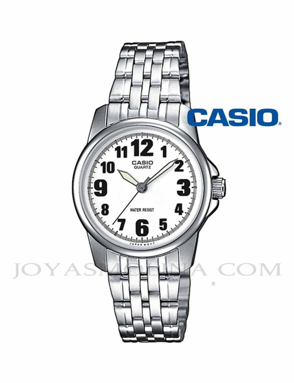 Reloj Casio mujer agujas números LPT-1260PD-7BE