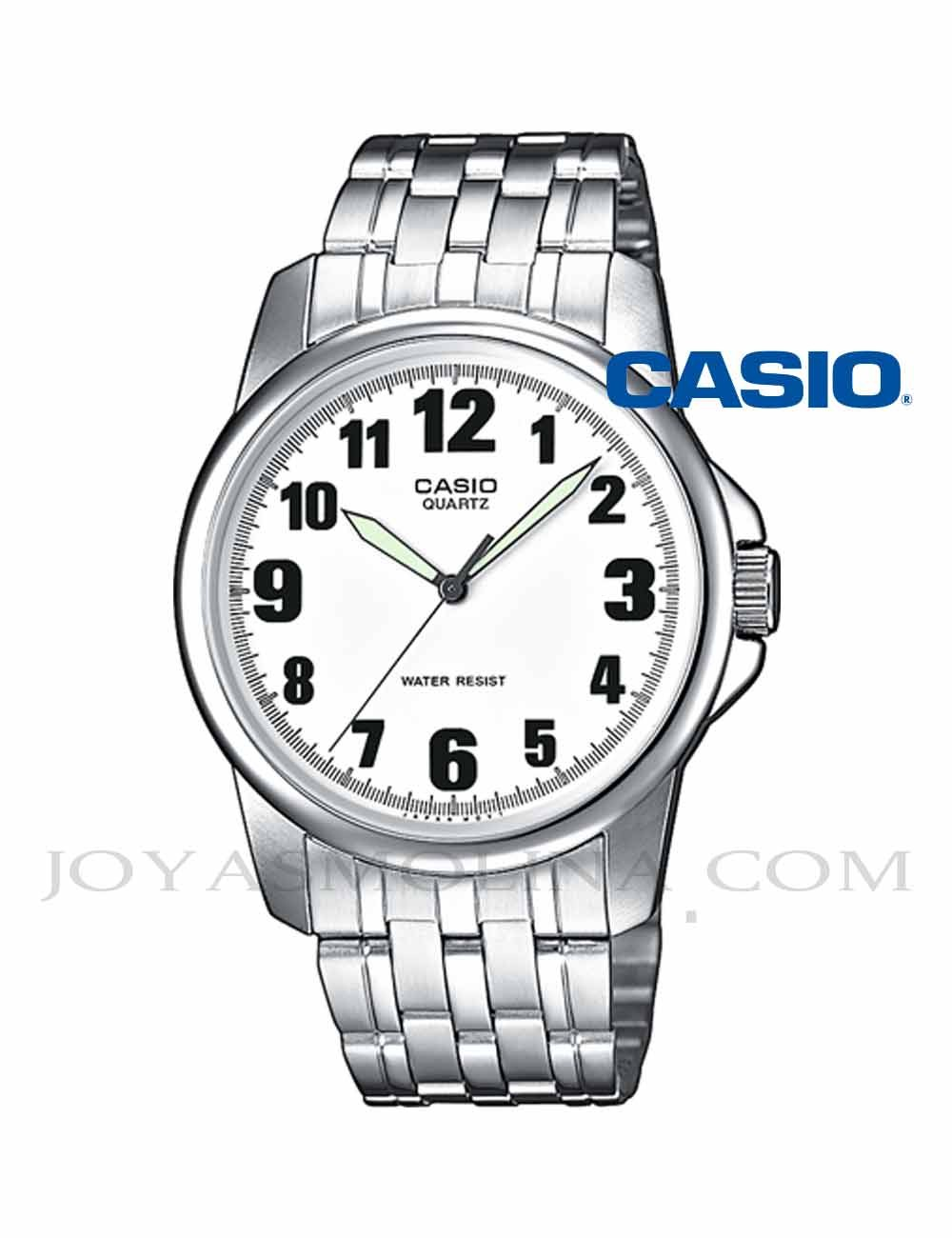 Reloj Casio hombre agujas números MTP-1260PD-7BE
