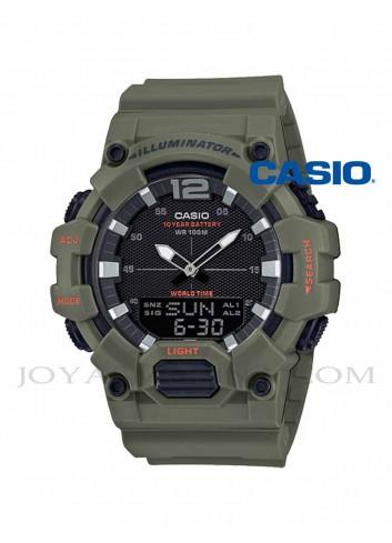 Reloj Casio hombre verde agujas digital HDC-700-3A2VEF
