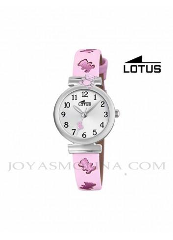 Reloj niña Lotus correa rosa oso 18628-2