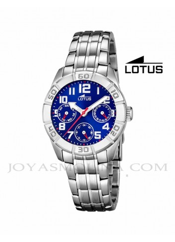 Reloj niño Lotus cadena esfera azul multifunciones 15831-5 redondo