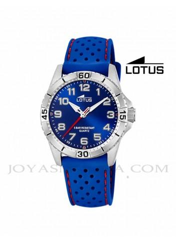 Reloj niño Lotus correa silicona azul 18663-2 redondo