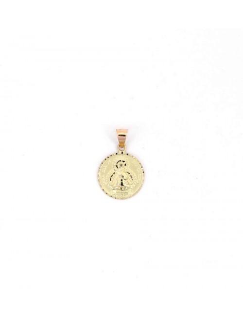 Medalla Virgen de la Cabeza oro redonda
